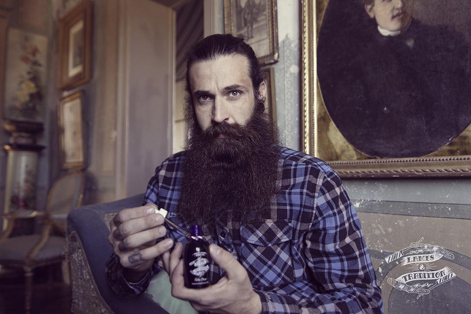 Huile à barbe pour l'entretien de la barbe, Lames & Tradition